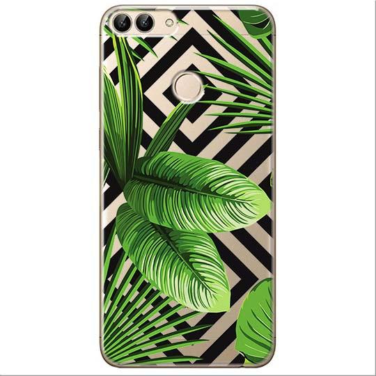 Etui na Huawei P Smart - Egzotyczne liście bananowca.