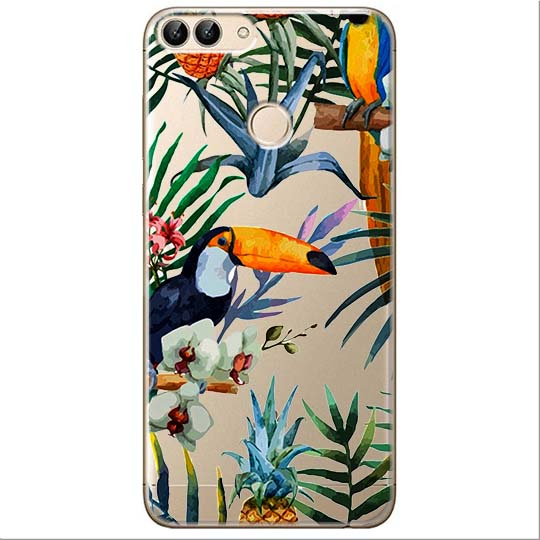 Etui na Huawei P Smart - Egzotyczne tukany.
