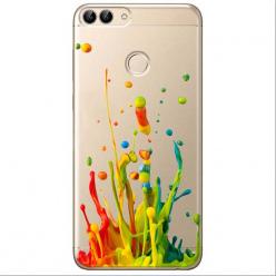 Etui na Huawei P Smart - Kolorowy splash.
