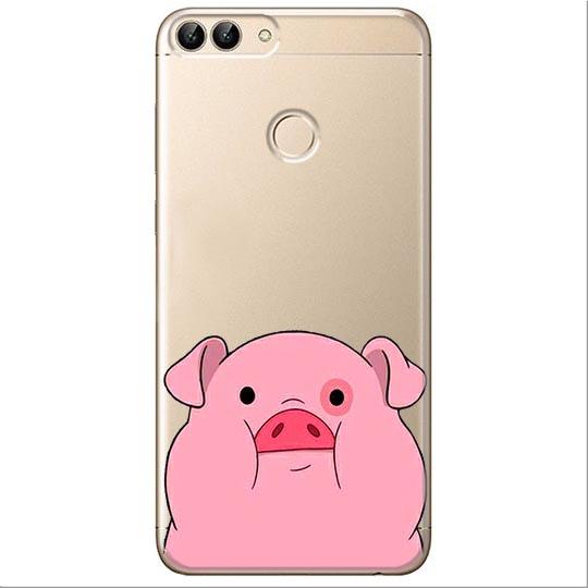 Etui na Huawei P Smart - Słodka różowa świnka.