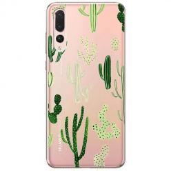 Etui na Huawei P20 Pro - Kaktusowy ogród.