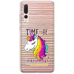 Etui na Huawei P20 Pro - Time to be unicorn - Jednorożec.