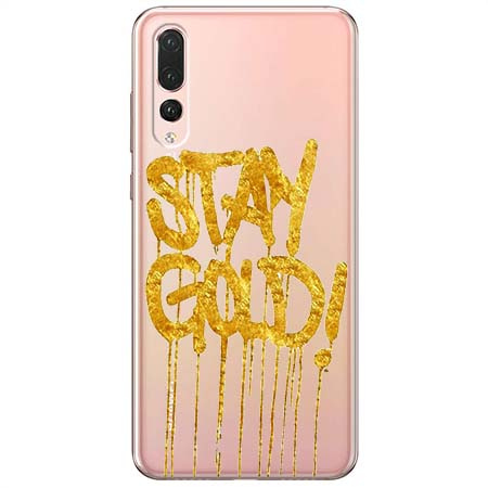 Etui na Huawei P20 Pro - Stay Gold.