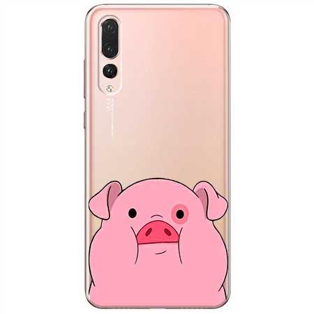 Etui na Huawei P20 Pro - Słodka różowa świnka.