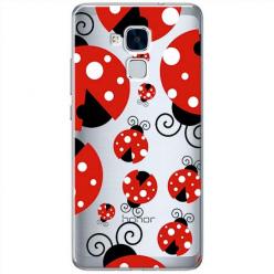 Etui na Huawei Honor 7 Lite - Czerwone wesołe biedronki.