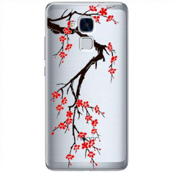 Etui na Huawei Honor 7 Lite - Krzew kwitnącej wiśni.