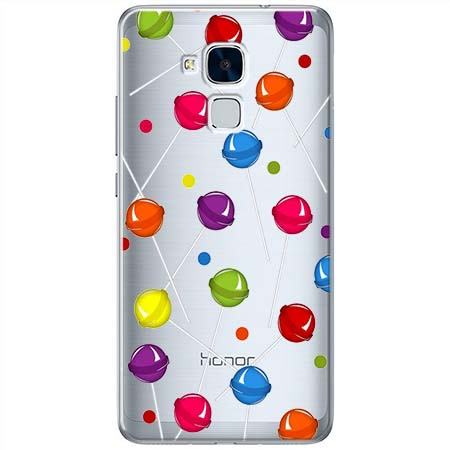Etui na Huawei Honor 7 Lite - Kolorowe lizaki.