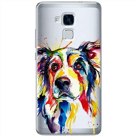 Etui na Huawei Honor 7 Lite - Watercolor pies.