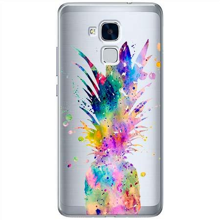 Etui na Huawei Honor 7 Lite - Watercolor ananasowa eksplozja.