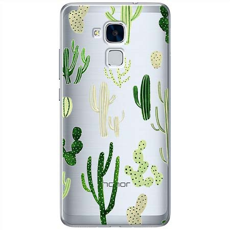 Etui na Huawei Honor 7 Lite - Kaktusowy ogród.