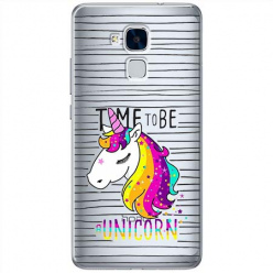 Etui na Huawei Honor 7 Lite - Time to be unicorn - Jednorożec.