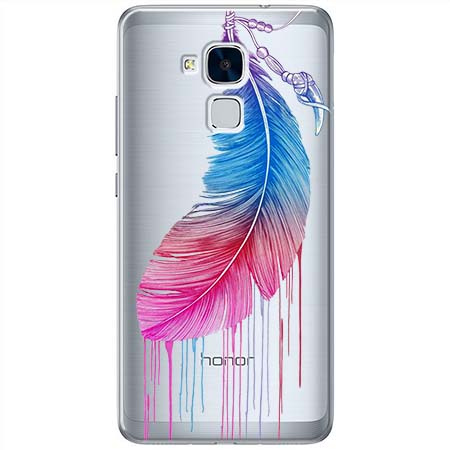Etui na Huawei Honor 7 Lite - Watercolor piórko.