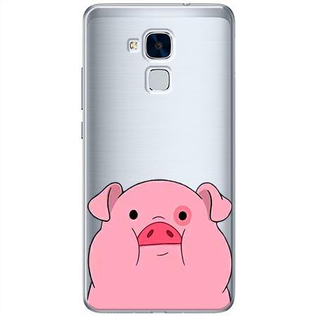 Etui na Huawei Honor 7 Lite - Słodka różowa świnka.