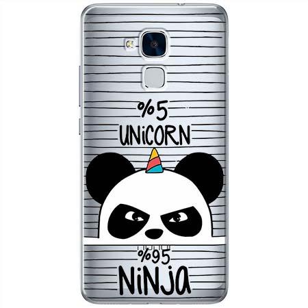 Etui na Huawei Honor 7 Lite - Ninja Unicorn - Jednorożec.