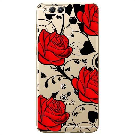 Etui na Huawei Honor 7X - Czerwone róże.