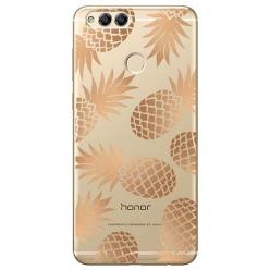 Etui na Huawei Honor 7X - Złote ananasy.