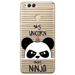 Etui na Huawei Honor 7X - Ninja Unicorn - Jednorożec.