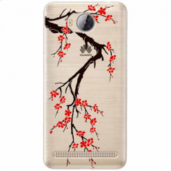 Etui na Huawei Y3 II - Krzew kwitnącej wiśni.