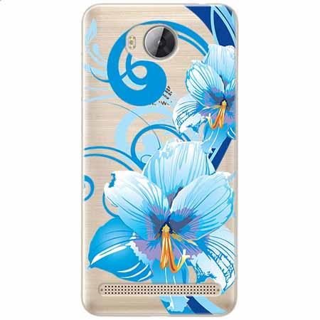 Etui na Huawei Y3 II - Niebieski kwiat północy.