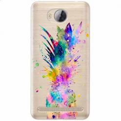 Etui na Huawei Y3 II - Watercolor ananasowa eksplozja.