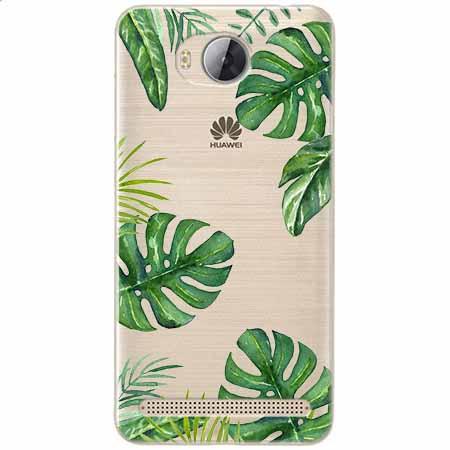 Etui na Huawei Y3 II - Egzotyczna roślina Monstera.