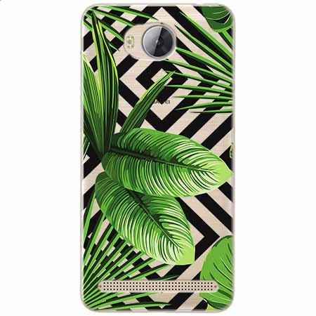 Etui na Huawei Y3 II - Egzotyczne liście bananowca.