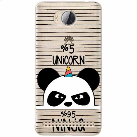 Etui na Huawei Y3 II - Ninja Unicorn - Jednorożec.