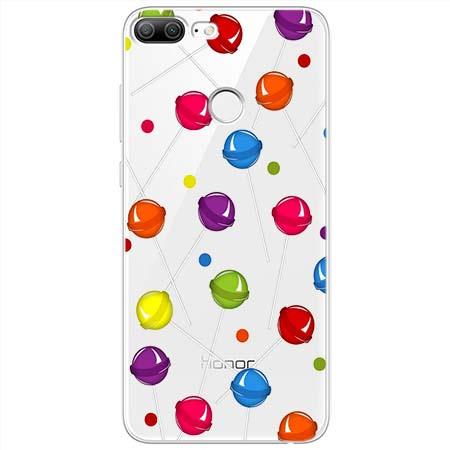 Etui na Huawei Honor 9 Lite - Kolorowe lizaki.