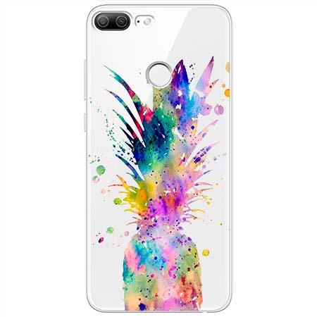Etui na Huawei Honor 9 Lite - Watercolor ananasowa eksplozja.