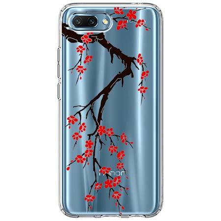 Etui na Huawei Honor 10 - Krzew kwitnącej wiśni.