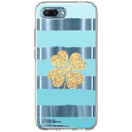 Etui na Huawei Honor 10 - Złota czterolistna koniczyna.