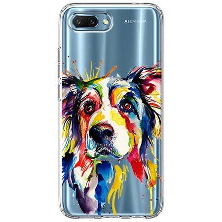 Etui na Huawei Honor 10 - Watercolor pies.