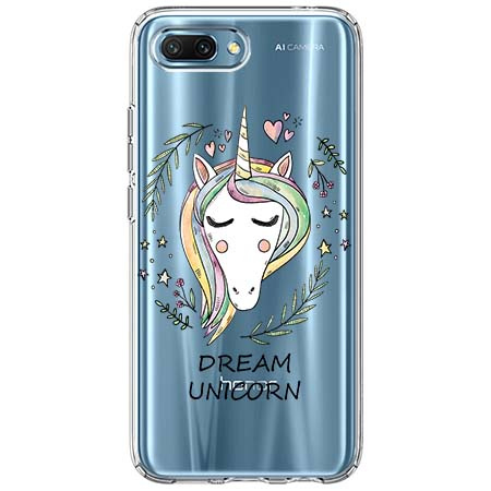 Etui na Huawei Honor 10 - Dream unicorn - Jednorożec.