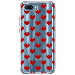 Etui na Huawei Honor 10 - Czerwone serduszka.