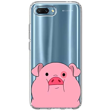 Etui na Huawei Honor 10 - Słodka różowa świnka.