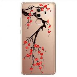 Etui na Huawei Mate 10 Pro - Krzew kwitnącej wiśni.