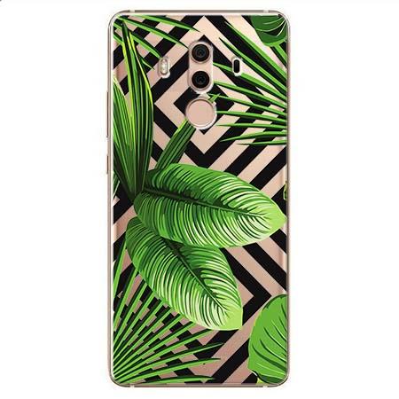 Etui na Huawei Mate 10 Pro - Egzotyczne liście bananowca.