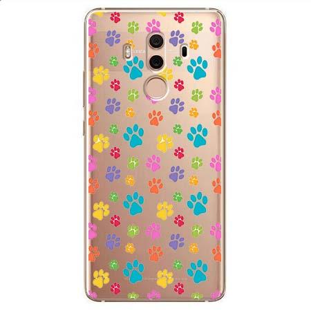 Etui na Huawei Mate 10 Pro - Kolorowe psie łapki.