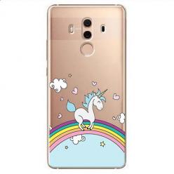 Etui na Huawei Mate 10 Pro - Jednorożec na tęczy.