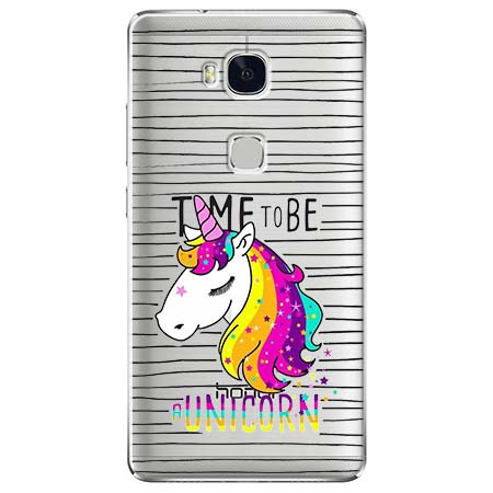Etui na Huawei Honor 5X - Time to be unicorn - Jednorożec.