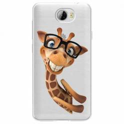 Etui na Huawei Y5 II - Wesoła żyrafa w okularach.