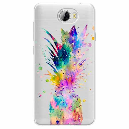 Etui na Huawei Y5 II - Watercolor ananasowa eksplozja.