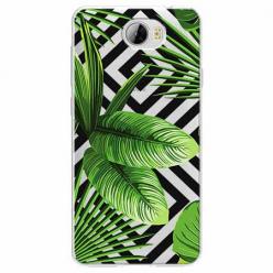 Etui na Huawei Y5 II - Egzotyczne liście bananowca.