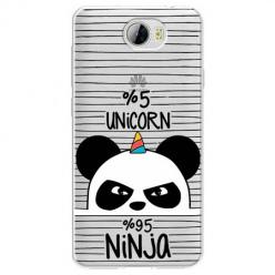 Etui na Huawei Y5 II - Ninja Unicorn - Jednorożec.