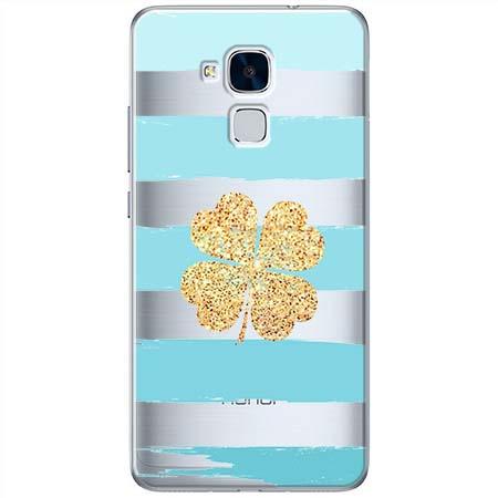 Etui na Huawei Honor 5C - Złota czterolistna koniczyna.