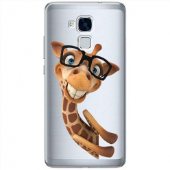 Etui na Huawei Honor 5C - Wesoła żyrafa w okularach.