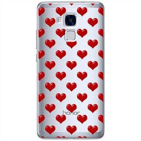 Etui na Huawei Honor 5C - Czerwone serduszka.