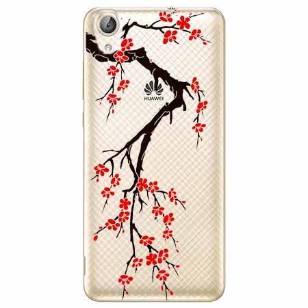 Etui na Huawei Y6 II - Krzew kwitnącej wiśni.