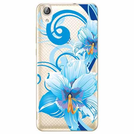 Etui na Huawei Y6 II - Niebieski kwiat północy.