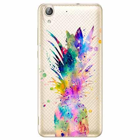 Etui na Huawei Y6 II - Watercolor ananasowa eksplozja.